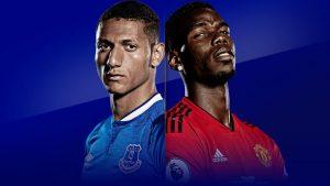 Everton và MU thi đấu